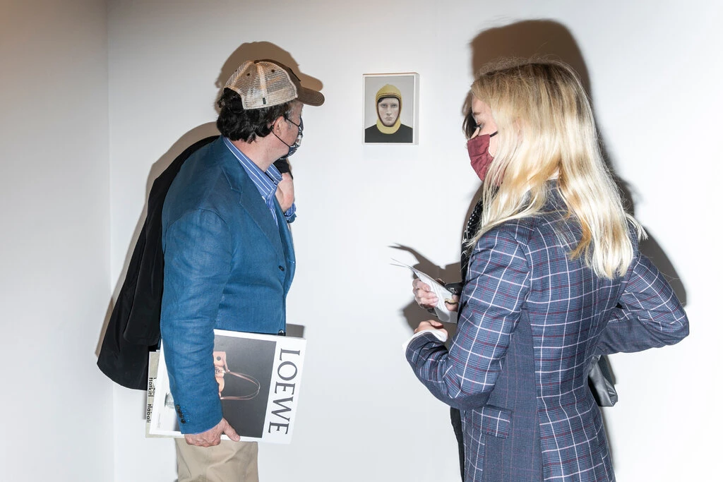 Mask wearing was strongly enforced at Frieze New York 2021. Image by The New York Times' Krista Schlueter.
