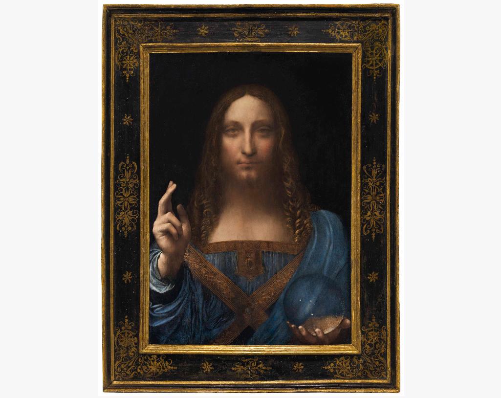 Leonardo da Vinci, Salvator Mundi. Image from Christie's.