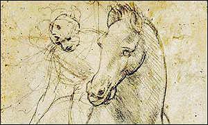 Leonardo da Vinci, Horse and Rider. Image from Christie's.