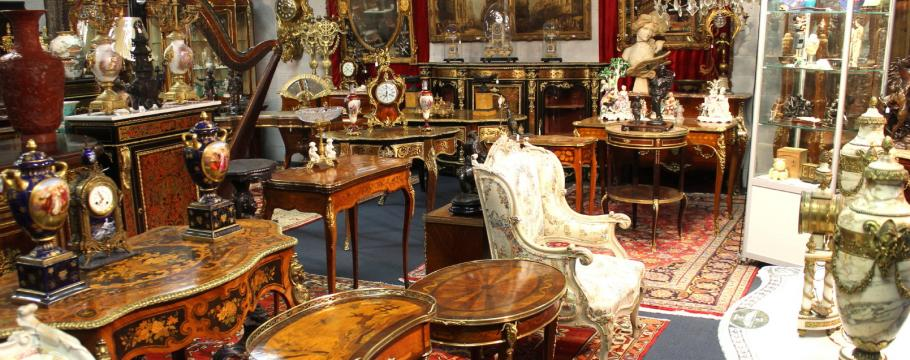 Furniture from the collection of Peter Orlando. Image from Australian Auction Review.