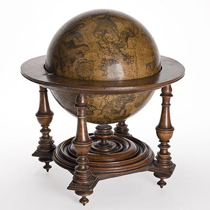 Early seventeenth-century Italian celestial globe. Estimate $15,000 to $20,000.