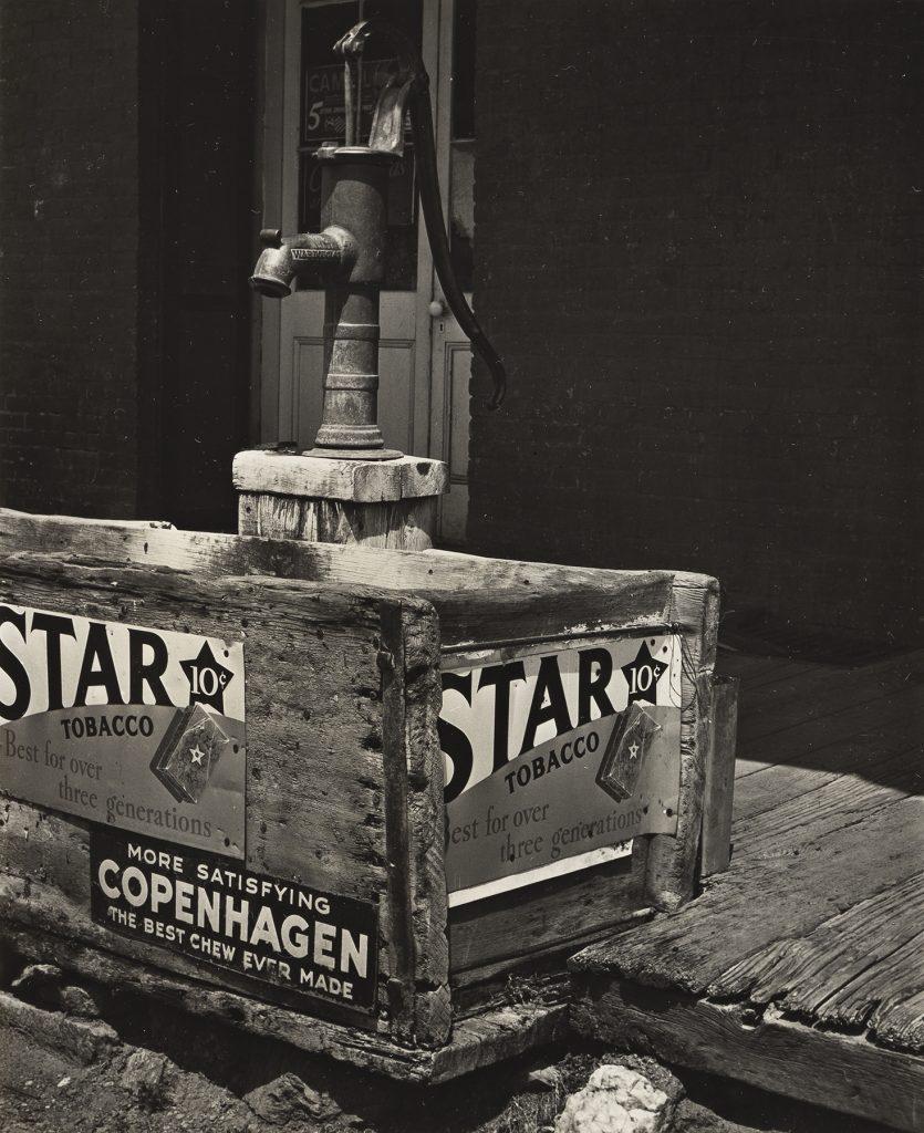 Alma Lavenson, Pump and Trough, Hornitos, silver print, 1940. Estimate $10,000 to $15,000.