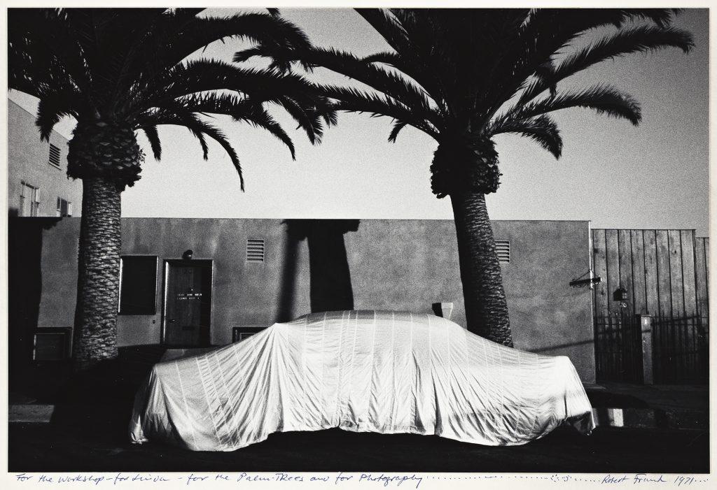 Robert Frank, Covered Car, Long Beach, California, silver print, 1955–56, printed 1971. Estimate $50,000 to $70,000.