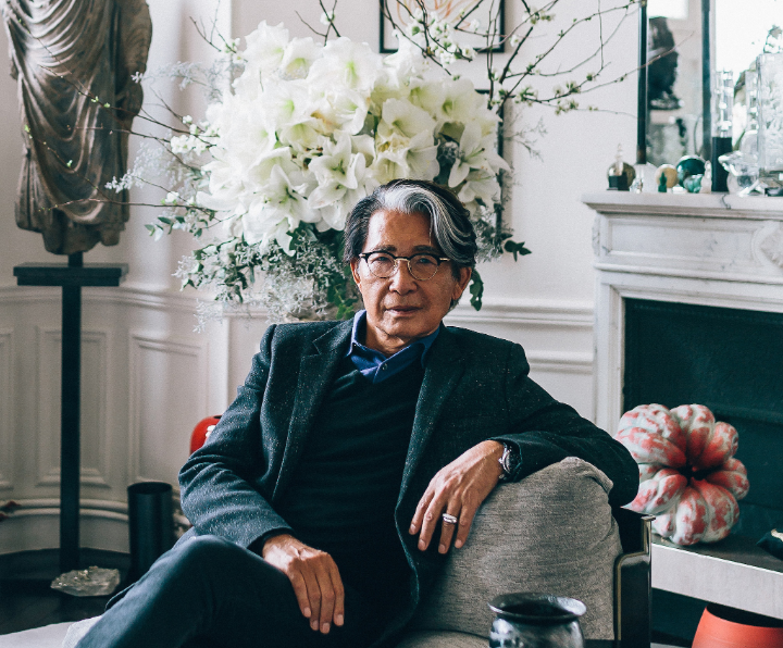 Kenzo Takada photographed in his apartment. Image by Mitchell Geng.