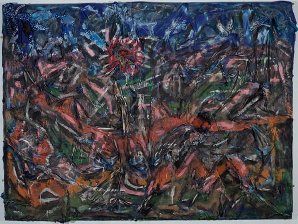 Thornton Dial, Ground Zero: Nighttime All Over the World (2002). © Thornton Dial/Artists Rights Society (ARS), New York. Image from the Baltimore Museum of Art.
