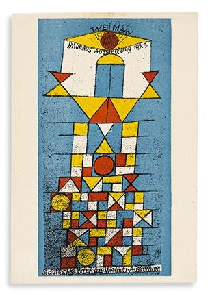 Paul Klee, Bauhaus Ausstellung Juli – Sept. 1923 Weimar, Weimar, 1923. Selections from Letterform Archive. Estimate $4,000 to $6,000.