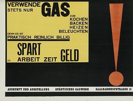 Walter Dexel, Verwende Stets Nur Gas, 1924. Estimate $20,000 to $30,000.