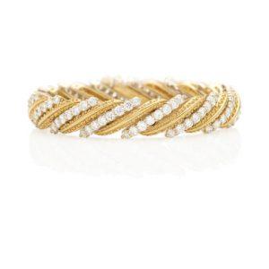 HAMMERMAN BROTHERS: 18K BI-COLOR GOLD AND DIAMOND BRACELET
