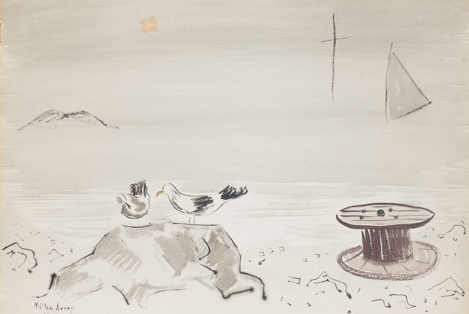 Milton Avery, Gulls in Fog, 1945. Image courtesy of Phillips.