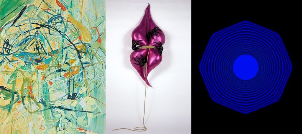 Photos from around the auction world in June 2021. Image credit from left to right: Phillips/ Poly Auction, Artsy, and Sotheby's. Collage by Heemin Moon (Auction Daily).