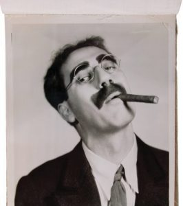 A Night at the Auction Groucho Marxs Glasses Topcoat and Letters to His Daughter Headline July Event
