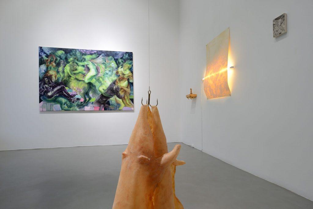 Artworks presented as part of Regarding Venice at Galleria Poggiali, Milan. Image by Michele Alberto Sereni.
