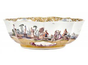 Meissen Porcelain Documentary Dated Ogival Quatrefoil Bowl from the Christie-Miller Service
