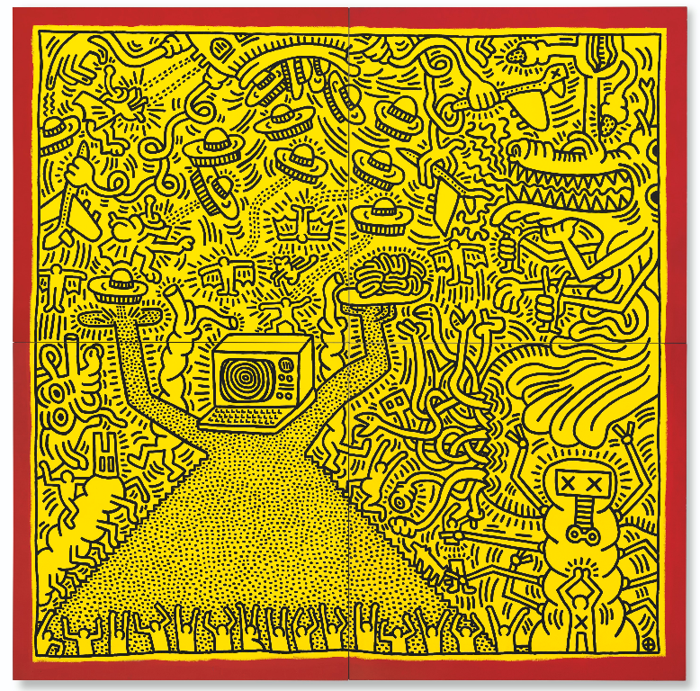 Keith Haring, Untitled, 1984. Image from Christie's.