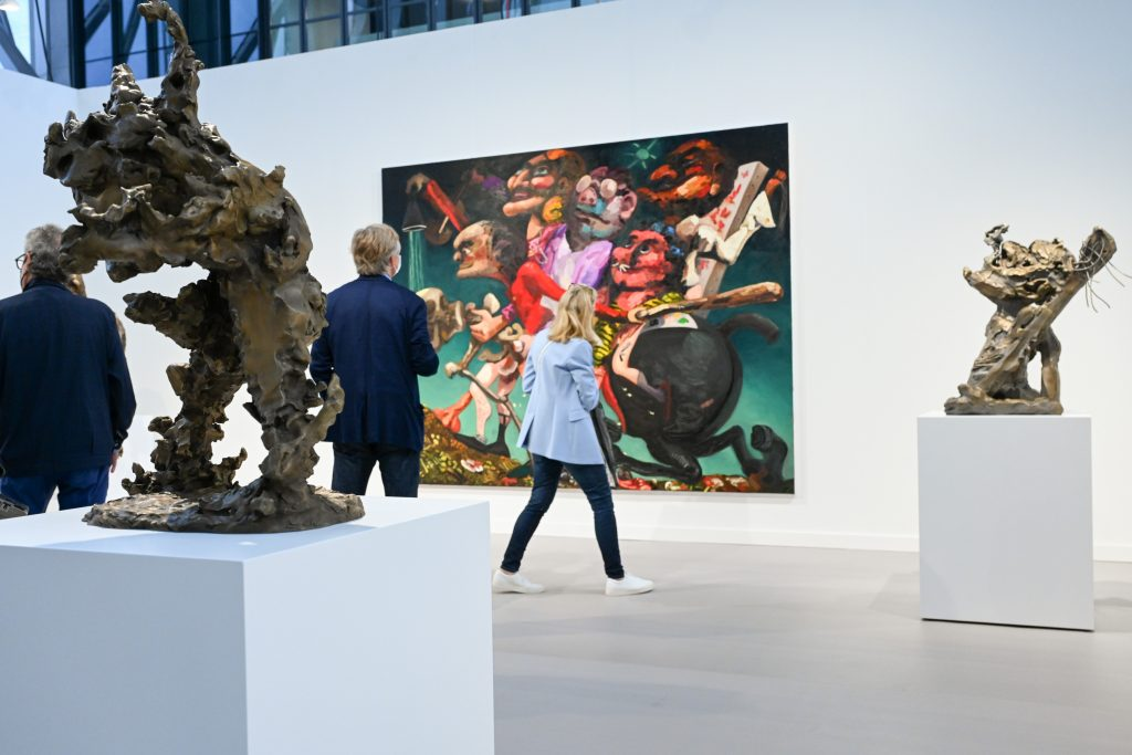 Visitors at Frieze New York 2021. Image by Casey Kelbaugh.
