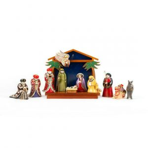 12pc Franklin Mint House of Faberge Nativity