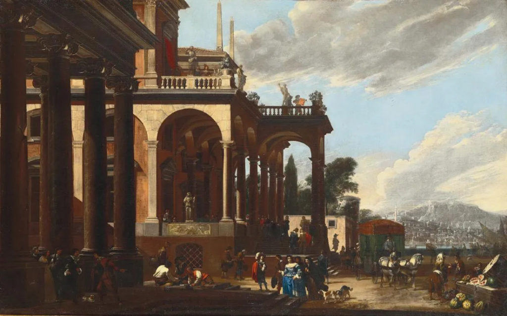 Viviano Codazzi, Arrival at the Palace. Image from Cambi Casa D'Aste.