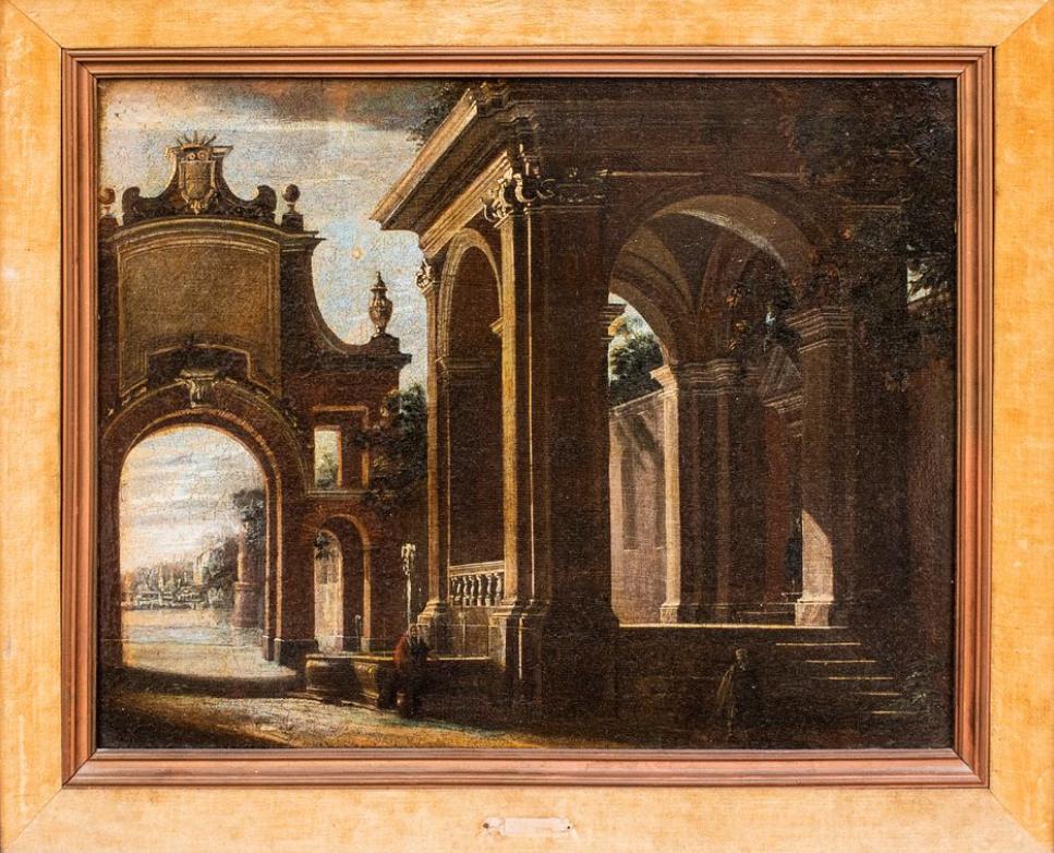 Viviano Codazzi's capriccio painting (lot #50). Image from Showplace.
