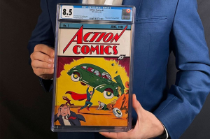 The record-breaking copy of Action Comics #1. Image from Superman Homepage.
