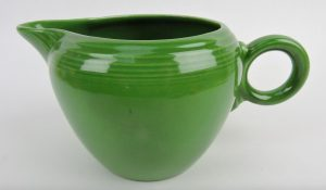 Lot #882: Prototype 2-pint jug in medium green. Image from Strawser Auctions/Liveauctioneers.com