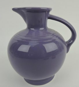 Lot #190: Post 86 lilac water carafe. Image from Strawser Auctions/Liveauctioneers.com.
