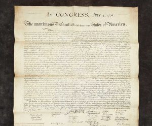 Freemans Will Offer Declaration of Independence Copy Given to Charles Carroll of Carrollton