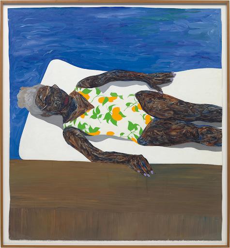 Amoako Boafo, The Lemon Bathing Suit, 2019. Image from Phillips.