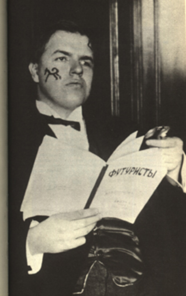 David Burliuk in 1914. Image from the public domain.