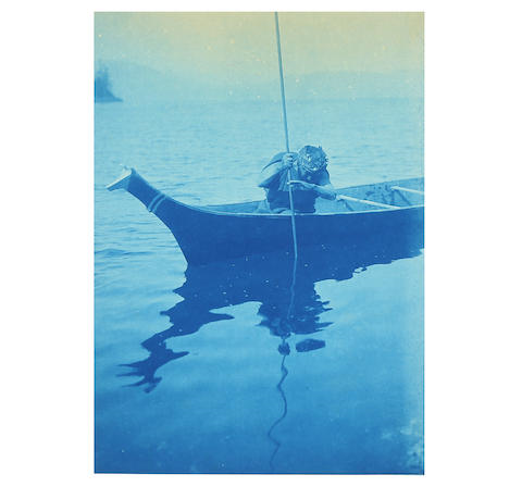 Edward S. Curtis (1858-1952), Cyanotypes from Volume XI of The North American Indian. Image from Bonhams.