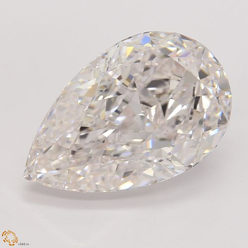 GIA graded -6.29 ct., Natural Faint Pink Color, IF, TYPE IIA Pear cut Diamond (GIA Graded), Appraised Value: $1,000,000