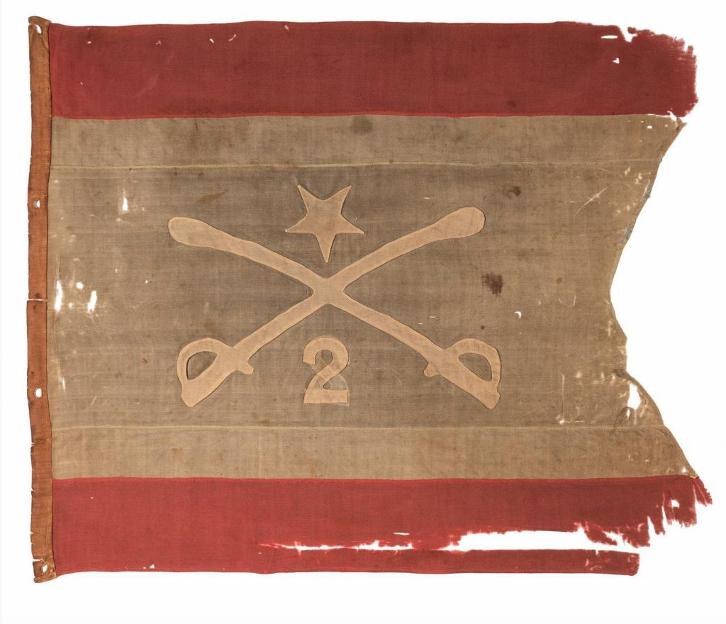 Lot #226: Personal headquarters flag of Philip Henry Sheridan. Photo from Cowan's Auctions.