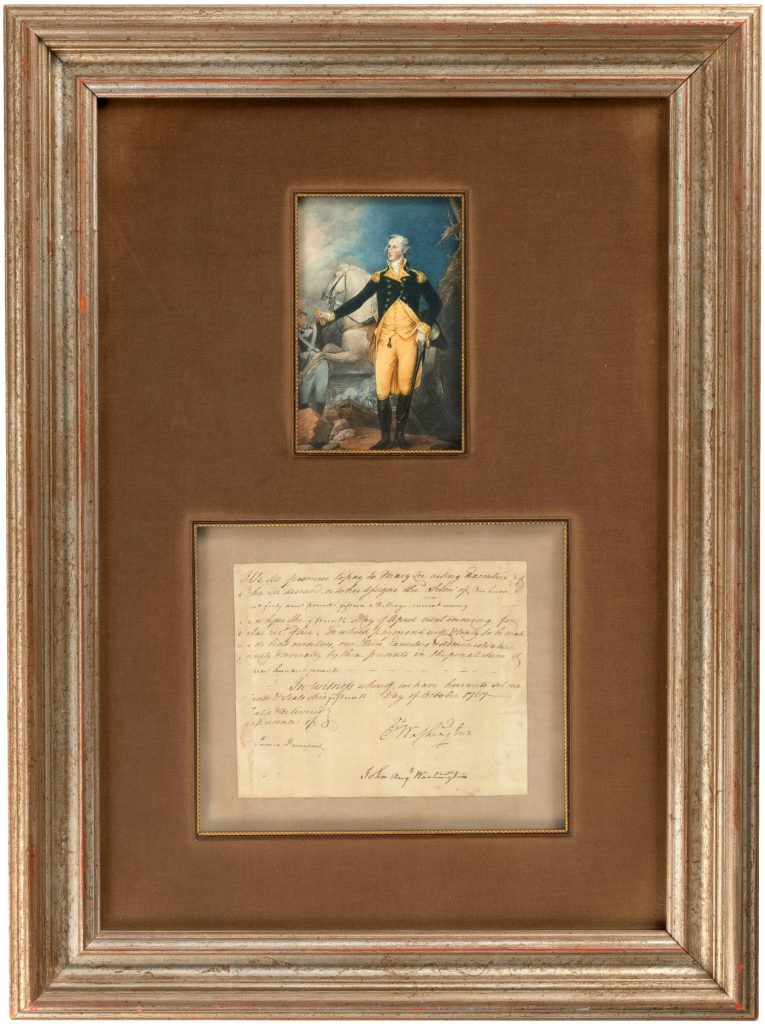 1767 George Washington-signed slave sale promissory note for his trusted personal valet William 'Billy' Lee, who went to war with Washington, including at Valley Forge and Yorktown. Never before seen at auction. Accompanied by Hake's and JSA Letters of Authenticity. Opening bid: $10,000