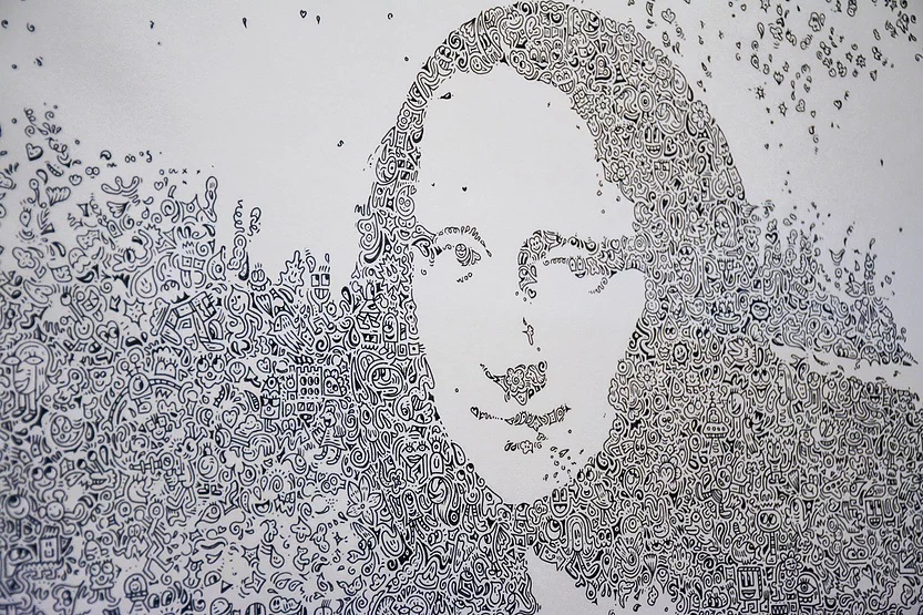 Mr. Doodle, Mona Lisa, 2018. Image from Starting from Korea.