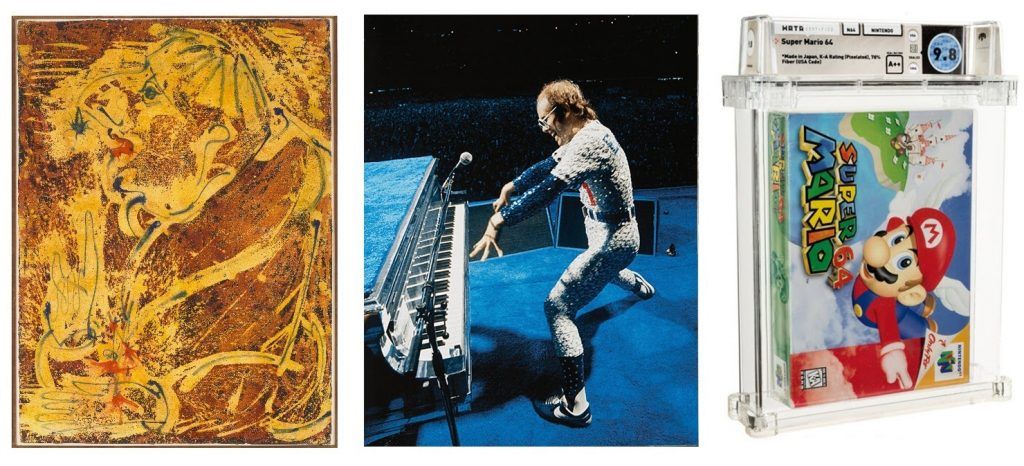 Images from around the auction world for July 2021. Image credit from left to right: Christie's and Heritage Auctions (both center and right pictures). Collage by Heemin Moon (Auction Daily).