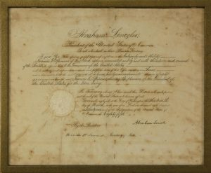 A Civil War Document Signed By Lincoln And A 1775 Revolutionary War Muster Roll Will Be In Rafael Osonas Online Auction, Aug. 7-8