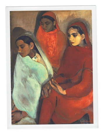 Amrita Sher-Gil (1913 - 1941), Three Girls, 1935. Image from The Picture Art Collection/Alamy.