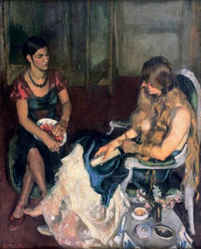 Amrita Sher-Gil (1913 - 1941), Young Girls, 1932. Image from Tate.