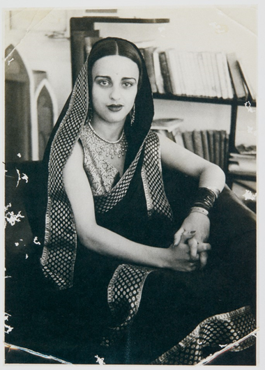 Amrita Sher-Gil, circa 1930s. Photo by Dalip Singh. Image from Sotheby's.