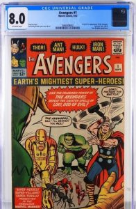 Copy Of Marvel Comics Avengers #1 (Sept. 1963), Graded Cgc 8.0, Hits $23,125 At Bruneau & Cos Comic, Tcg & Toy Auction Held On July 10th