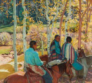 Indian Horsemen by Ernest Martin Hennings