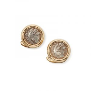 Pair of Gold and Antique Coin 'Monete Cufflinks