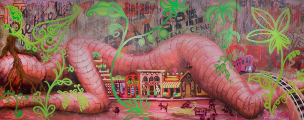 Lady Pink, Queen Matilda, 2008. Image from Shapiro Auctions.