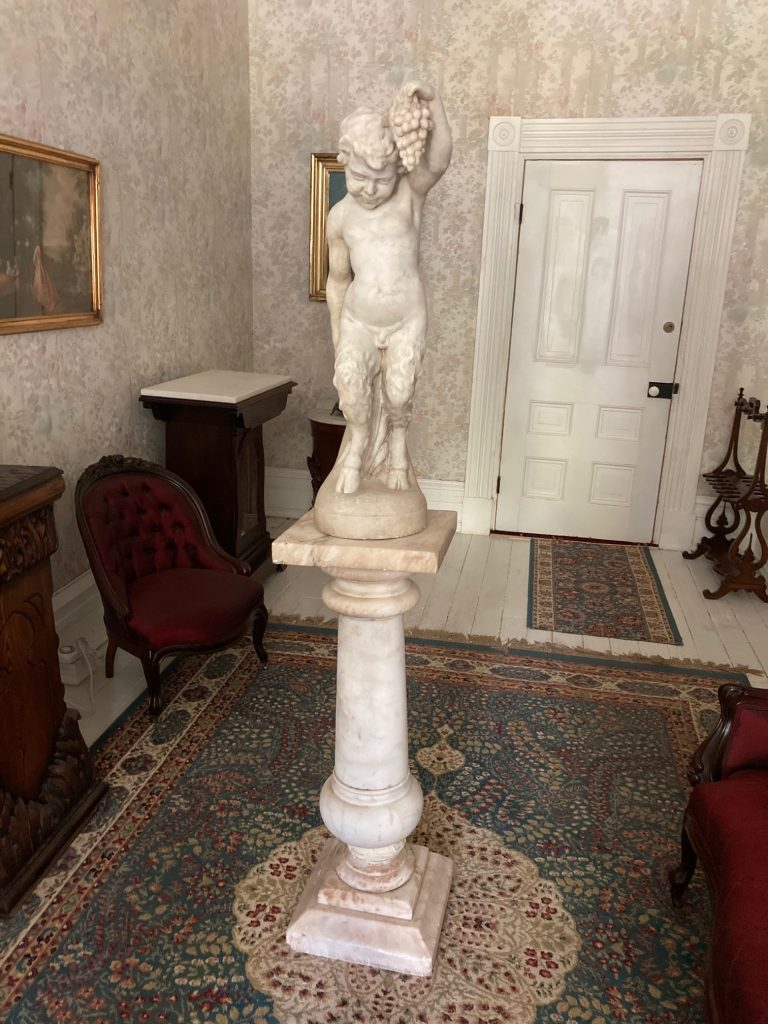 A strong candidate for top lot of the auction is this beautifully carved 19th century white marble statue of a fawn in wonderful condition, 36 inches tall. Estimate: $20,000-$35,000.