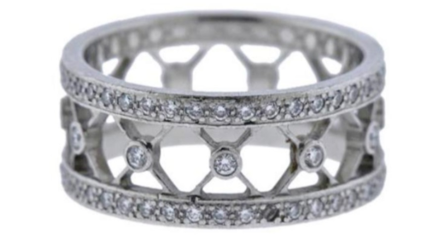 """Platinum ring eternity band Tiffany & CO """"voile """""""