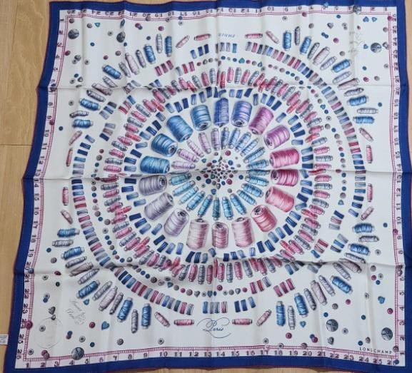 Silk scarf Longchamp 100% silk