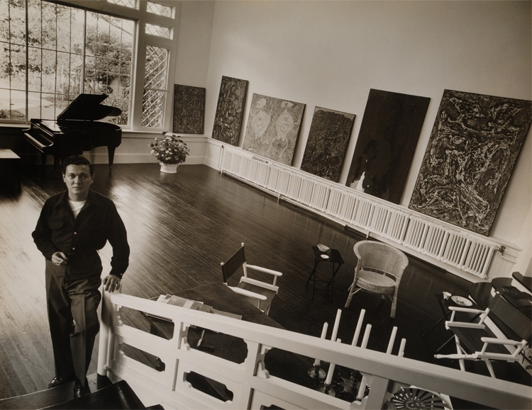 Alfonso Ossorio in his East Hampton estate, 1952. Image by Hans Namuth, courtesy of the Center for Creative Photography, University of Arizona.