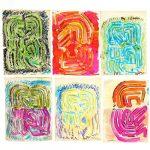 Chryssa, group (6) sketches