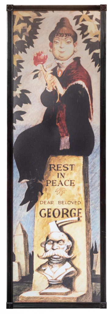 Constance Hatchaway stretching portrait from The Haunted Mansion. Image from Potter & Potter.