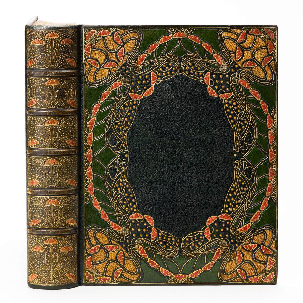 Guild of Women Binders, exhibition binding of A.F. Pollard's Henry VIII, London, 1902. Estimate $5,000 to $7,500.
