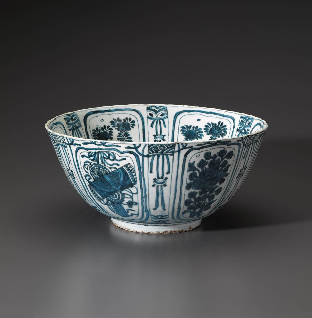An Unusually Large Kraak  Bowl Diameter: 36.5 cm. (14 3/8 in.) Height: 17.0 cm. (6 3/4 in.) Late Ming dynasty Late 16th-early to 17th century